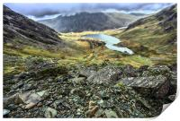 llyn idwal from the Devil's Kitchen, Print