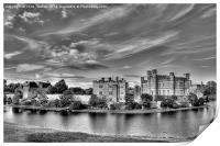 Leeds Castle Black and White 3, Print