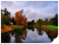 Autumn Reflections at Wrest Park, Print