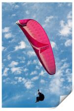 Red Canopy Paraglider, Print