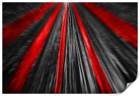 Red And Black Abstract, Print