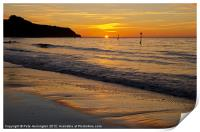 Sunrise Towards Orcombe Point - Exmouth, Print