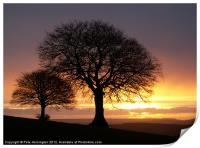 Sunrise and Sidmouth Gap, Print