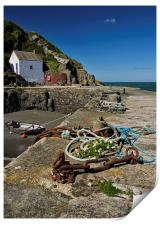 Porthgain in South Wales, Print
