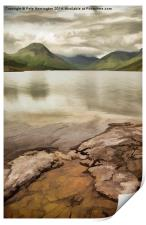 Artistic view of Wastwater in Lake District, Print