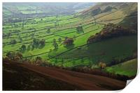 View of Edale valley from The Nab, Print