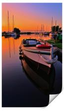 Boats on the Exeter Canal, Print