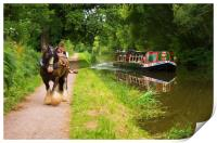 Horse and Barge, Print