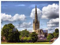 Norwich Cathedral., Print