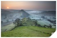 Dawn Over Parkhouse Hill, Print