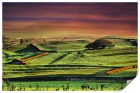 Fiery Sunset In The Dales, Print