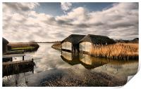 Thatched Boat Houses, Print