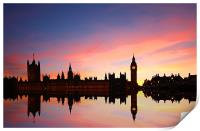 Westminster Reflections, Print