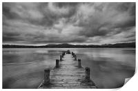 Wooden Jetty at Windermere, Print