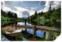 Boat At Loch Ard, The Trossachs, Print