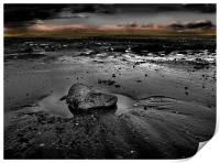 Sand Bay in Black and White, Print