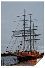 The Lord Nelson, tall ship, Print