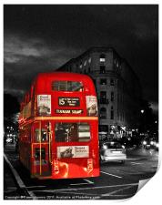 Red London Bus, Print