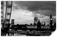 Westminster and London Eye, Print