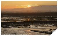 Rye Harbour Nature Reserve, Sunset, Print
