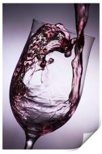 Pouring wine, Print