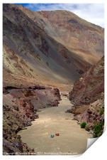 Rafting on the Zanskar River, Ladakh, India, Print