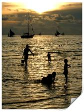 Silhouettes at Sunset, Print