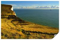 White Cliffs of Dover - Drop Off, England, Print