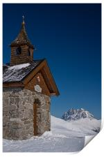 St.Mary in the snow, Print