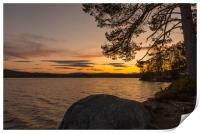 Swedish sunset, Print