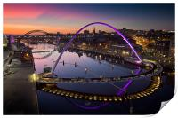 High View Twilight Tyne, Print