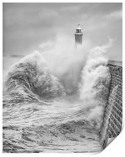 Storm Force Tynemouth, Print