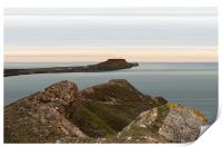 Worms Head and Causeway, Print