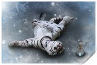 Fiona Floyd and the Freeze-Tiger canvas print, Print