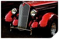 1937 Plymouth Coupe, Print