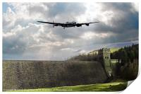 The Dam Busters over The Derwent, Print