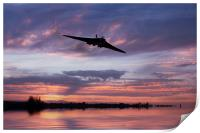 Vulcan Over The Water , Print
