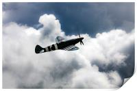 Spitfire Cloudy Skies , Print