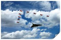 XH558 and The Reds , Print
