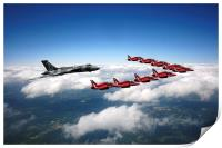Flying with XH558 and The Reds, Print