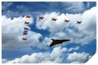 Red Arrows and Vulcan XH558, Print