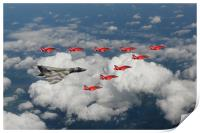 Vulcan with Red Arrows, Print