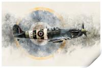 Spitfire AB910 - Painting, Print