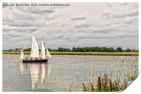 Sailing on The Broads, Print