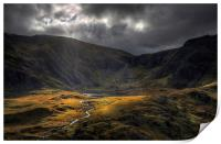 Cwm Idwal - Take a view, Print