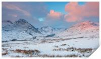 The Ogwen Valley - Mid Winter, Print