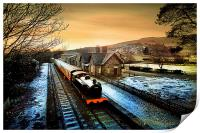 The train is in the station., Print