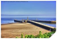 Whitby Harbour View, Print