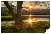 Last Light At Elterwater, Print