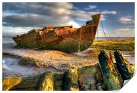 Shipwrecks on the River Wyre, Print